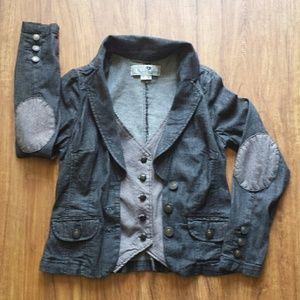 Jolt Black Denim Jacket & Vest Size Medium